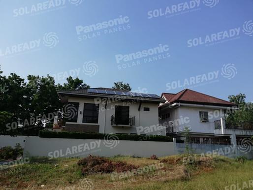 3 KW REC Solar panels Installation in The Park Village, Cavite