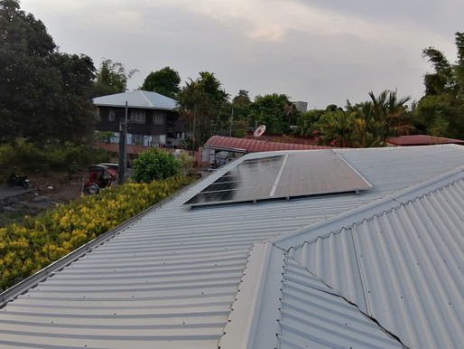 4kW solar grid-tied system installed in Malolos, Bulacan