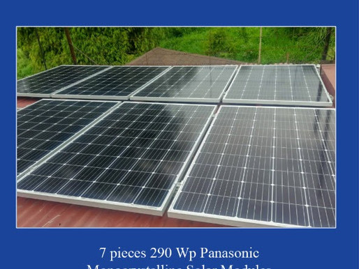 2 kWp solar grid-tied system installed in Antipolo