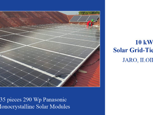 10kW solar grid-tied system installed in Jaro, Iloilo