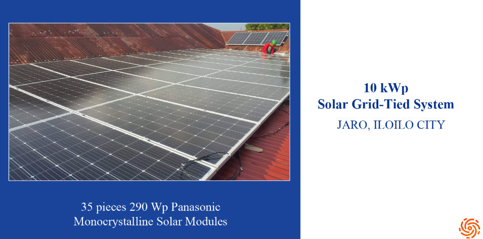 10kw Solar Grid Tied System Installed In Jaro Iloilo