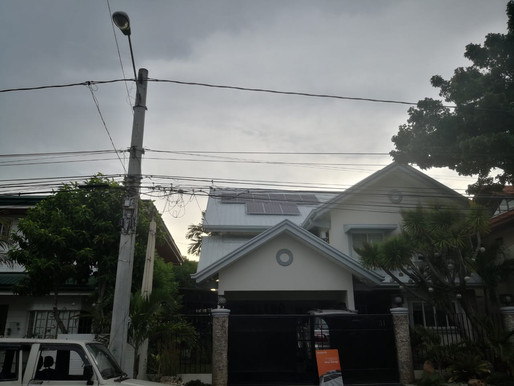 5 kWp Solar Grid Tie System Installation in Alabang Hills, Muntinlupa