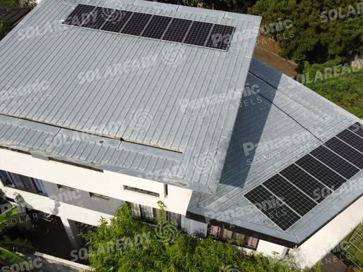 6 kW On-Grid Solar Panel Installation using Panasonic 380 W in Bacoor, Cavite