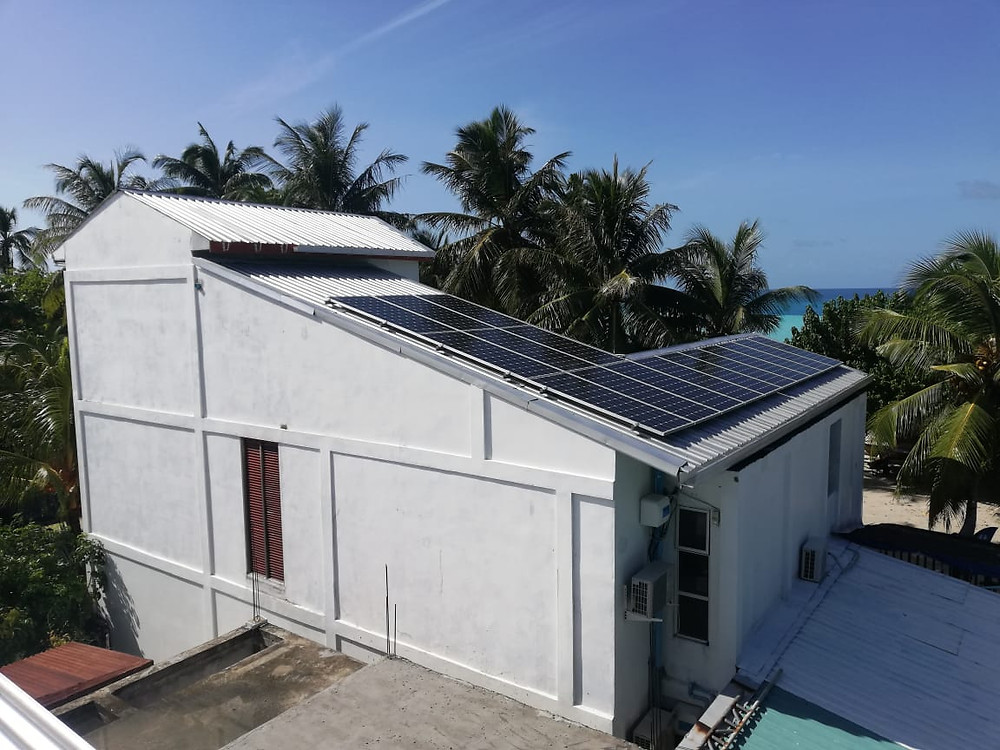 solaready projects installation on-grid solar panels maldives kinan retreat