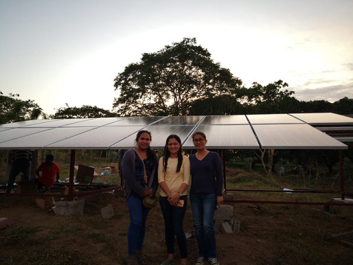 Ground-mounted home solar panel installed in Cavite