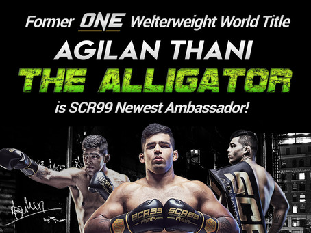Agilan Thani Newest SCR99 Ambassador