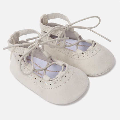 LaceUp Flats - Nude