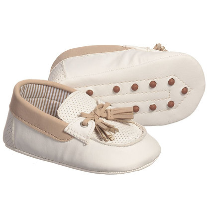 Two Tone Moccasins - Nude
