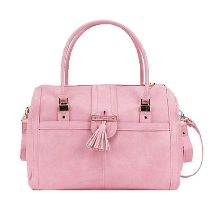 Pink Tassel Diaper Bag Set