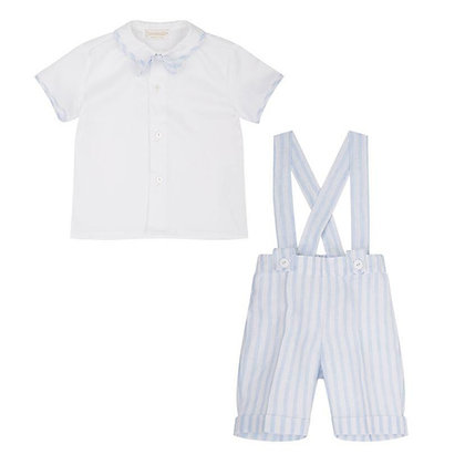 Sky/White Linen Set - 3PC