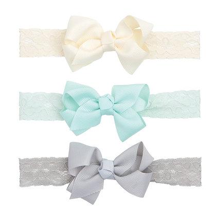 Lace Headband Set - Aqua
