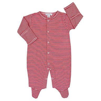 Simple Stripe Footie - Red