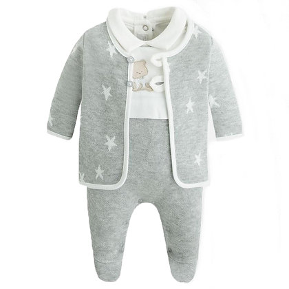 Grey Footie Jacket Set