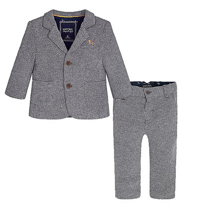 Slim Fit Suit Set - Grey