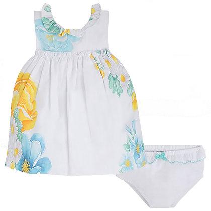 White Flower Dress Set