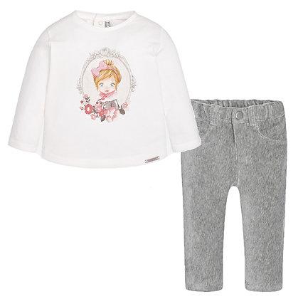 Long Sleeve & Pants Set - Grey