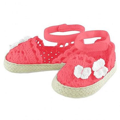 Lace Espadrilles - Pink