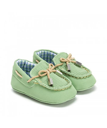 Nude Tie Moccasins - Green