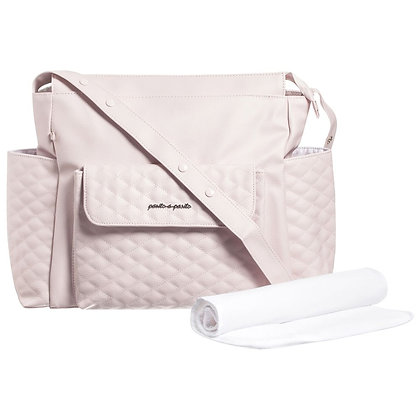 Blush Quilted Diaper Bag Set