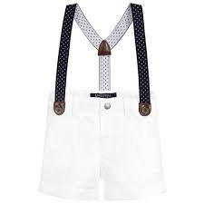 White Shorts w/ Suspenders