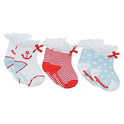 3 Pair Sock Set - Nautical