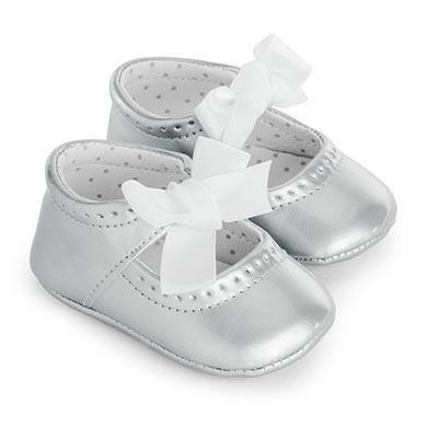 Patent Maryjanes - Silver