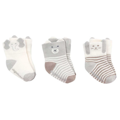 Little Friends Sock Set - Grey