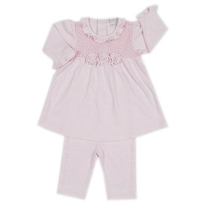 Tranquil Dress w/ Tights - Pink