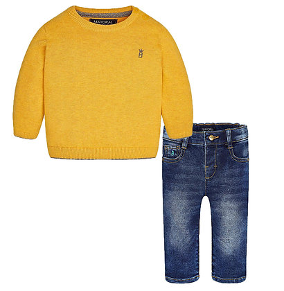 Mustard Sweater Set