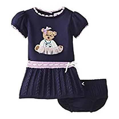 Knit Bear Dress Set