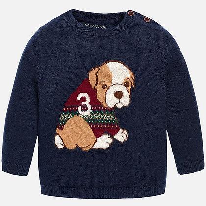 Navy Puppy Sweater