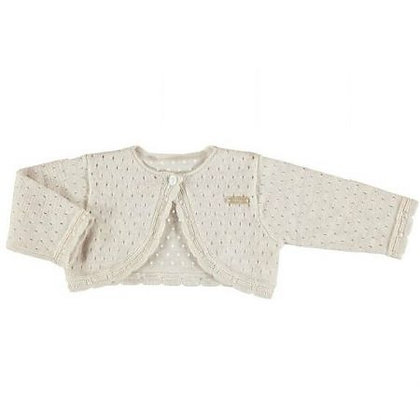 Knit Cardigan - Nude