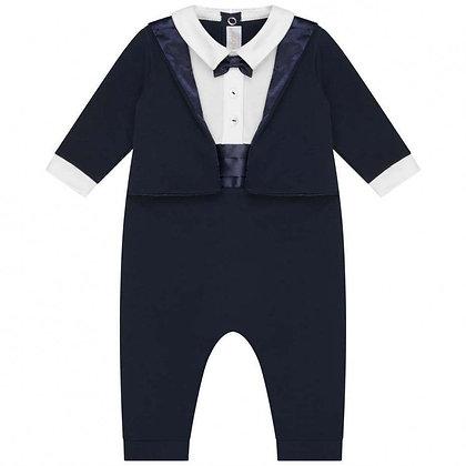 Italian Suit Onesie - Navy