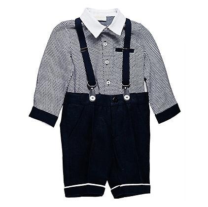 Navy Formal Set w/Suspenders