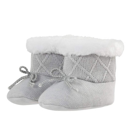 Knit Boots - Grey