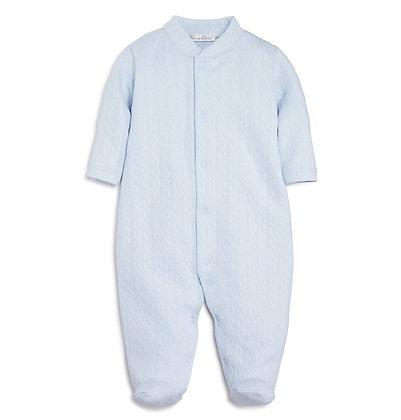 Cable Jacquard Pajama - Sky