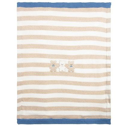 Stripe Fur Blanket
