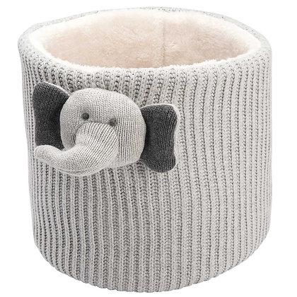 Crochet Bin - Elephant