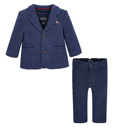 Slim Fit Suit Set - Navy