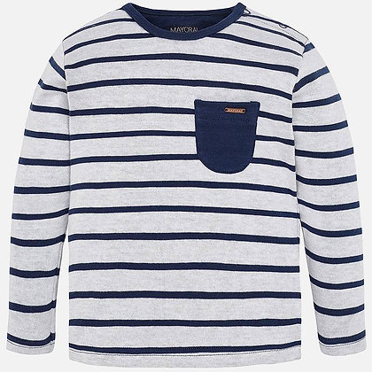 Navy Stripped Long Sleeve