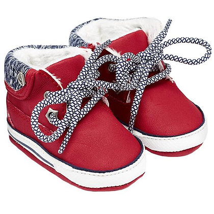 Lace Up Sneakers - Red