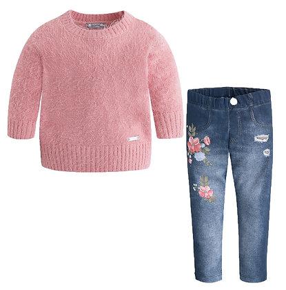 Sweater / Legging Set - Navy