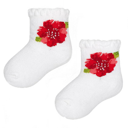 Embroidered Flower Socks