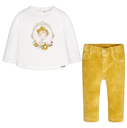 Long Sleeve & Pants Set - Mustard