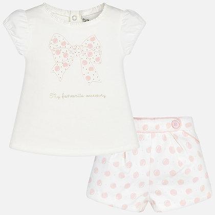 Pink Dot Shorts Set