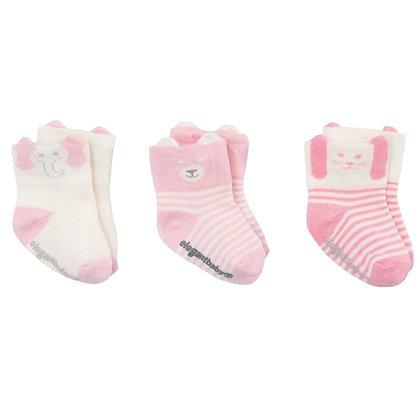 Little Friends Sock Set - Lt. Pink