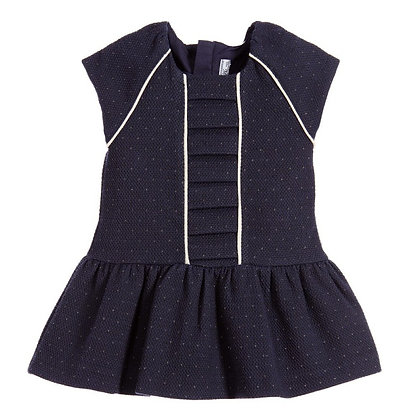 Navy Cotton Dress Set
