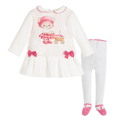 Pink Bear Dress Set