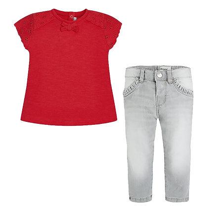 Eyelet Tee & Jeans