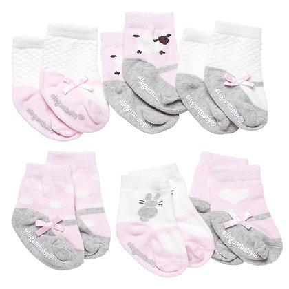 Pink Lamb Sock Set